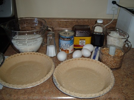 Chocolate-Pecan-Pie-Ingredients